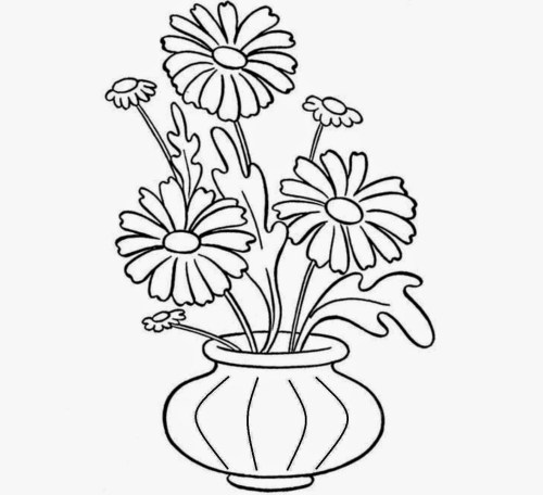small resolution of 1444x1319 flower pot draw emages pot plant clipart line drawing flower