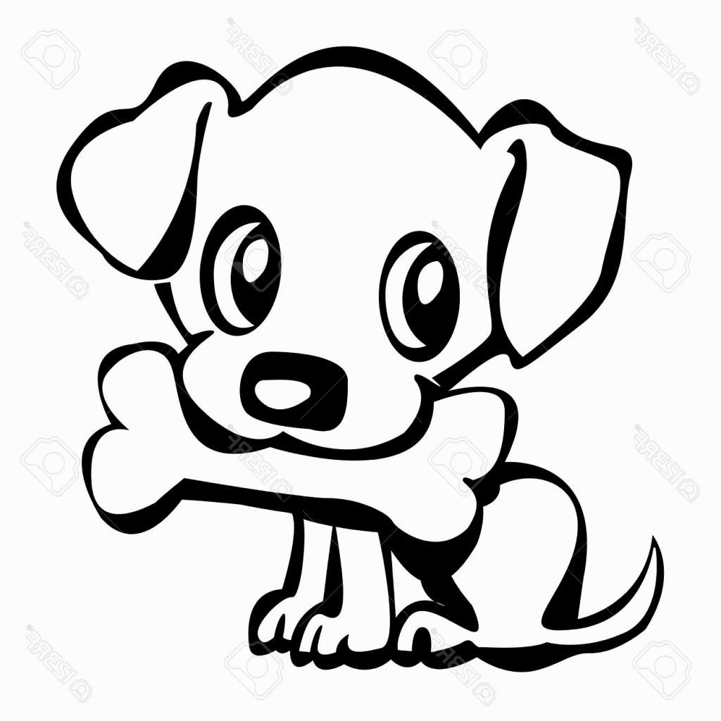 Line Drawing Of A Dog At Getdrawings
