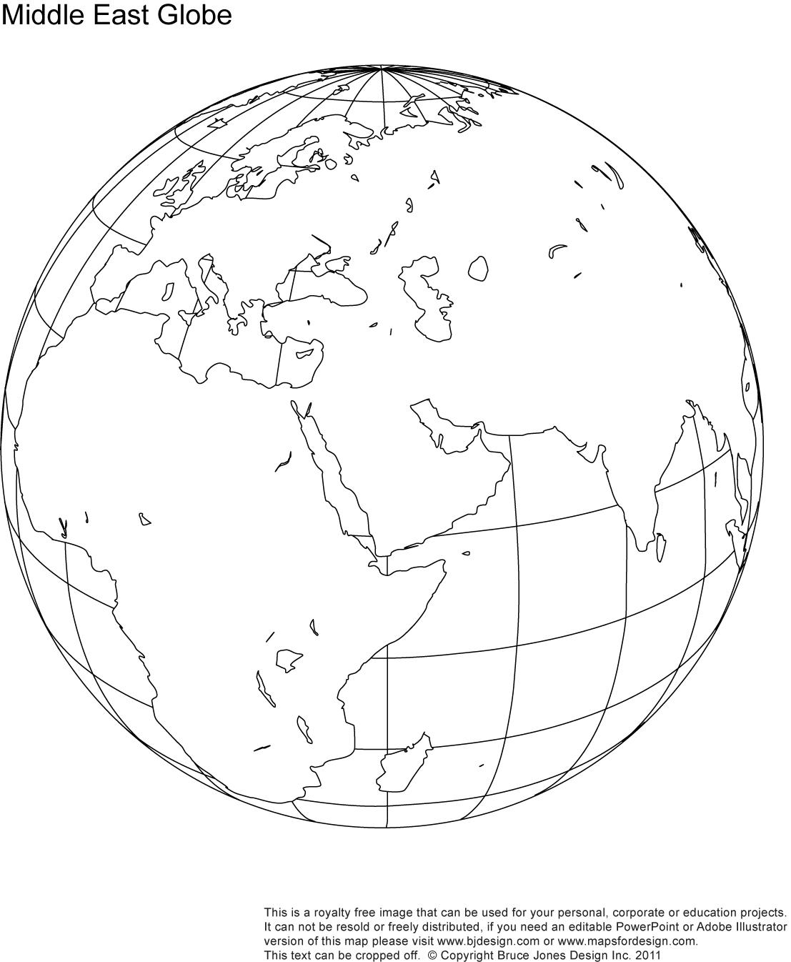 Line Drawing Of Globe At Getdrawings