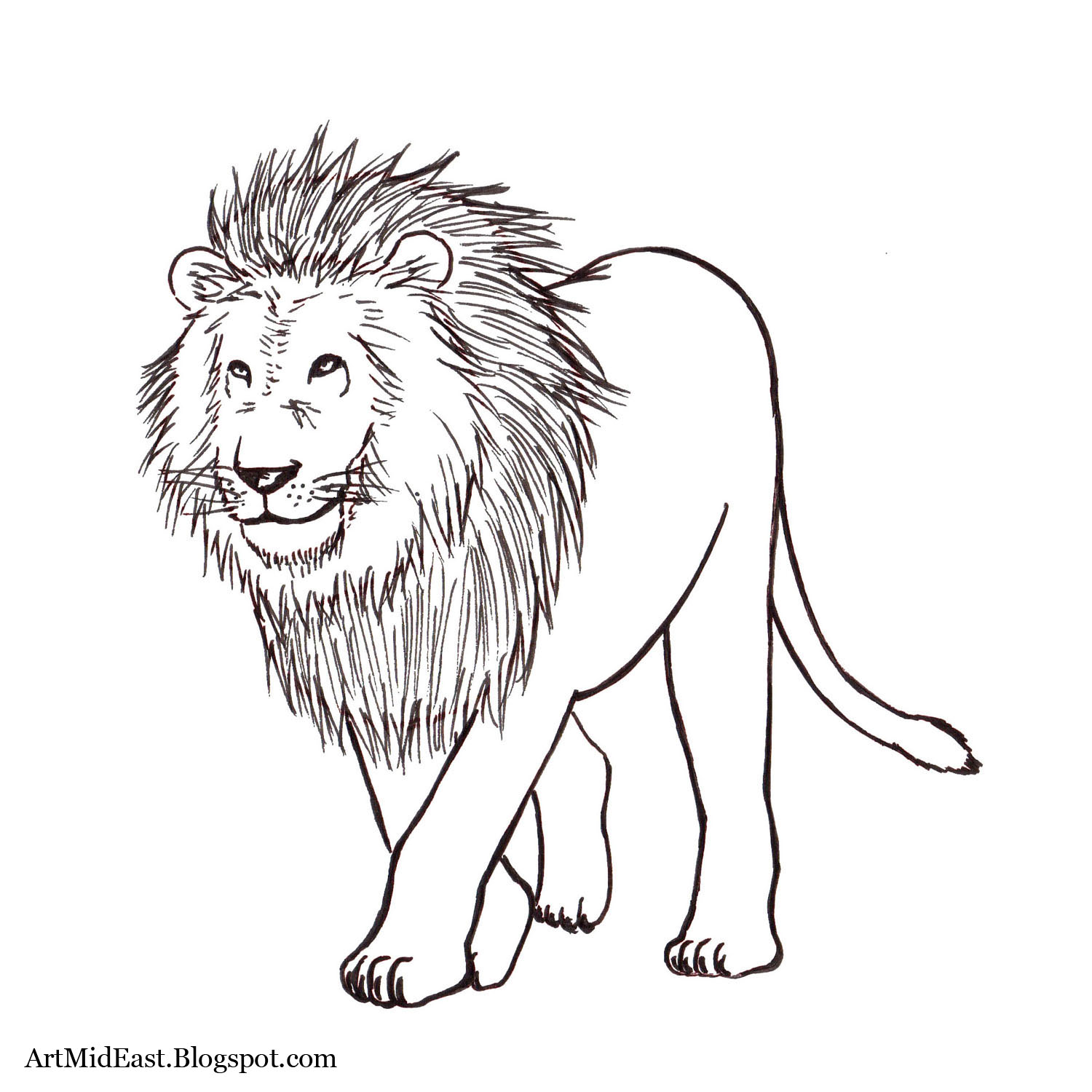 Lion With Crown Drawing At Getdrawings