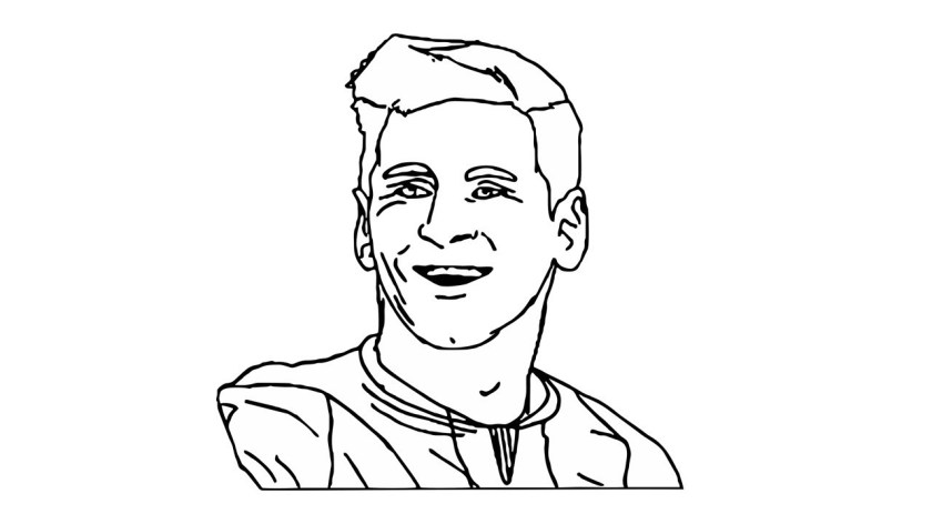 lionel messi drawing at getdrawings  free download