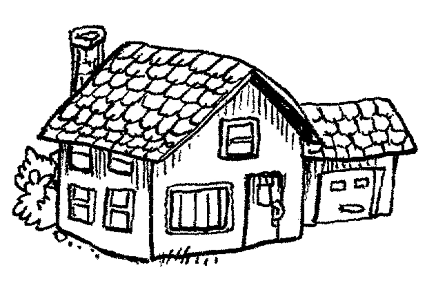 Little House Drawing At Getdrawings