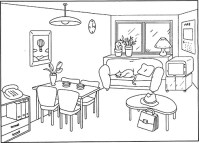Living Room Drawing at GetDrawings.com
