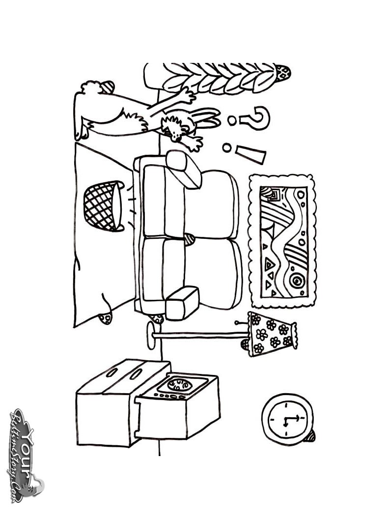 hight resolution of 794x1054 living room coloring pages free