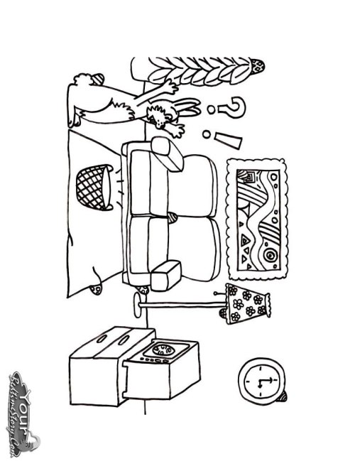 small resolution of 794x1054 living room coloring pages free