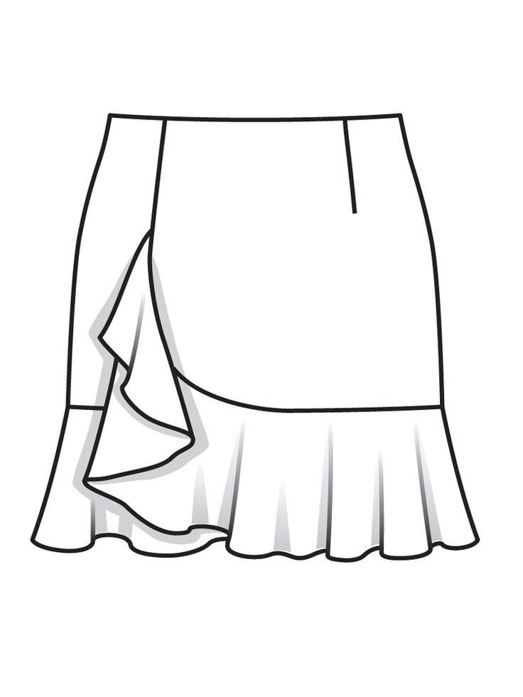 Skirt Drawing At Getdrawings Com