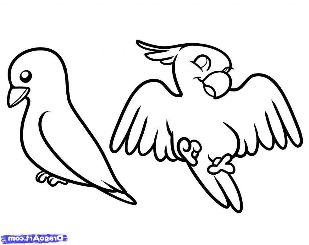 Easy Drawing Love Birds Cute Love Drawings Dr Odd