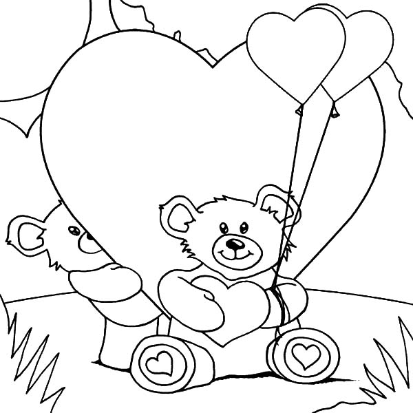 Love Teddy Bear Drawing At Getdrawings Com