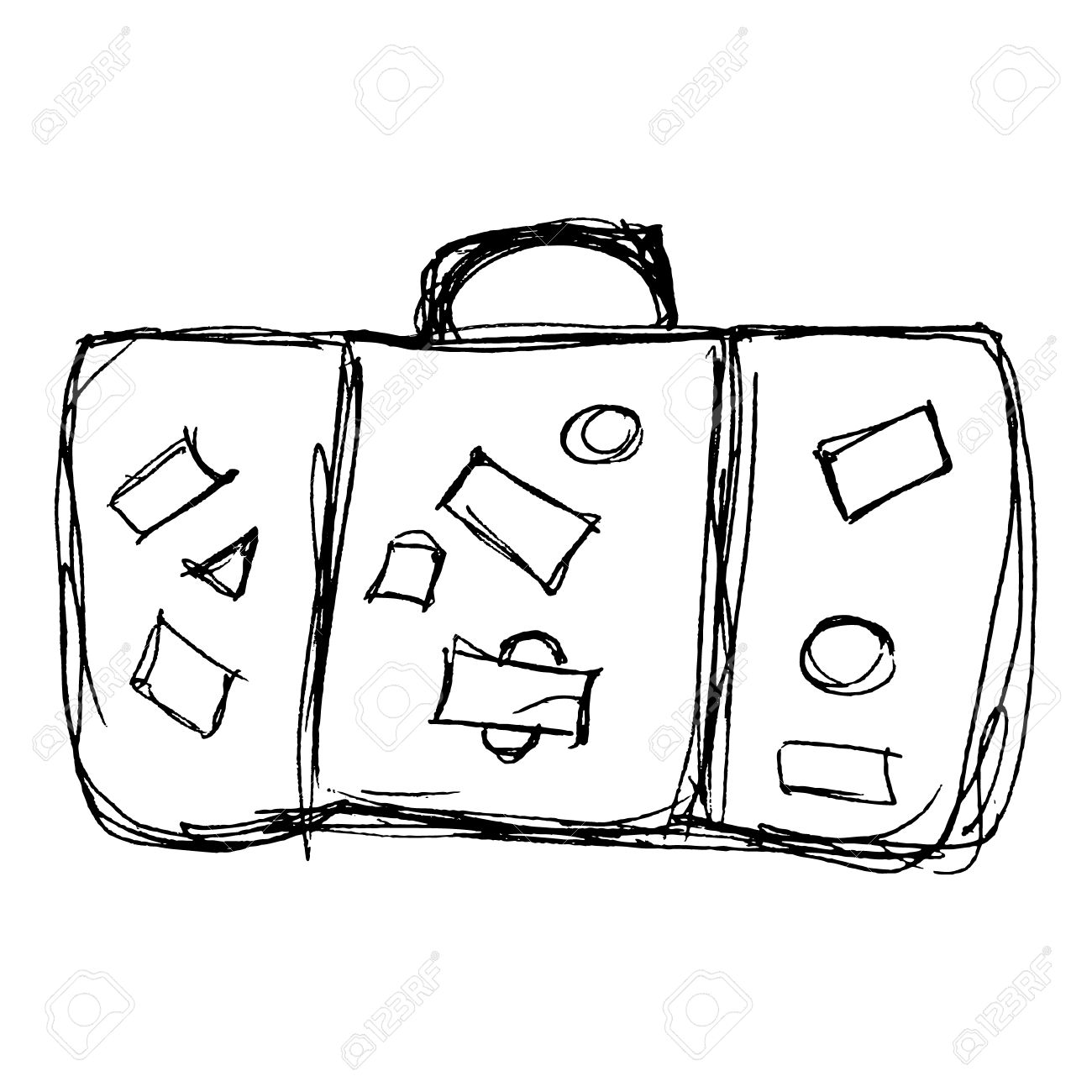 Luggage Drawing At Getdrawings