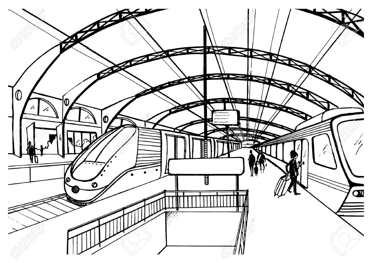 Maglev Train Drawing At Getdrawings