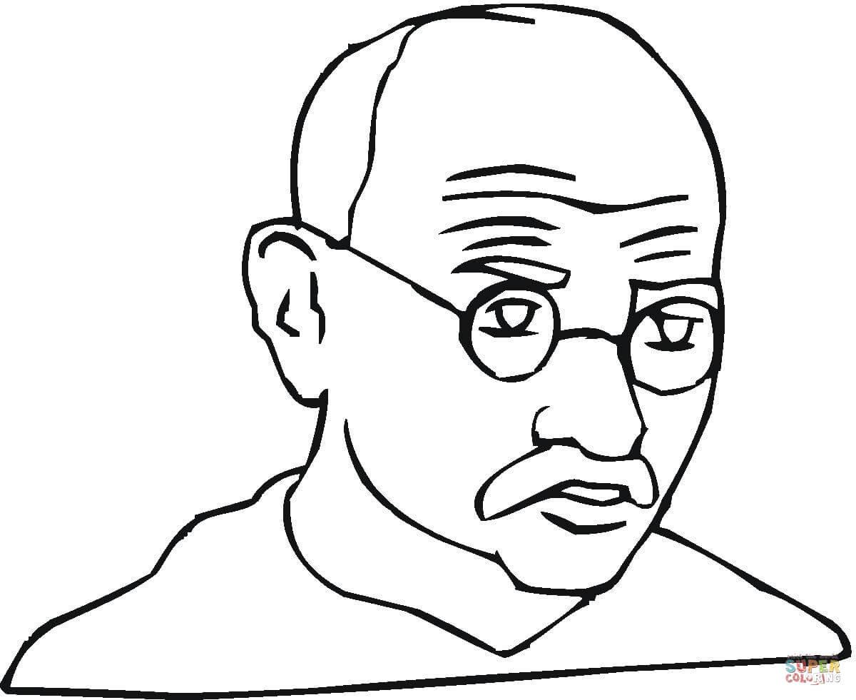 Mahatma Gandhi Drawing At Getdrawings