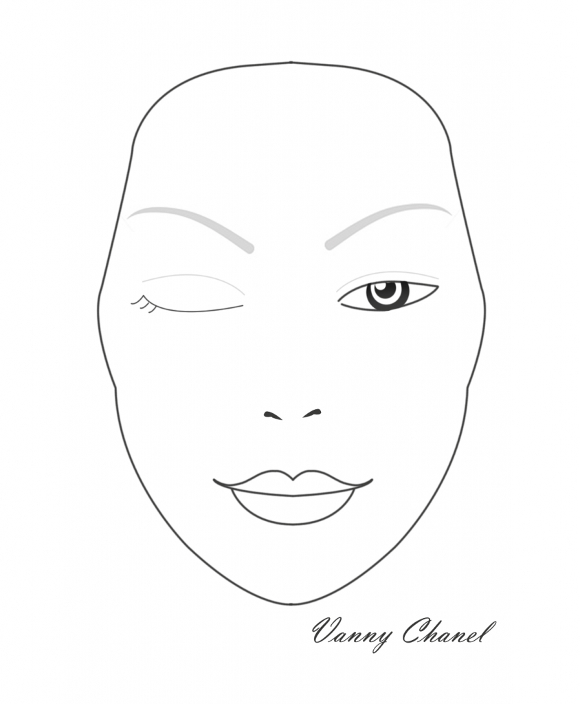 photograph regarding Printable Face Charts titled Print Make-up Deal with Charts