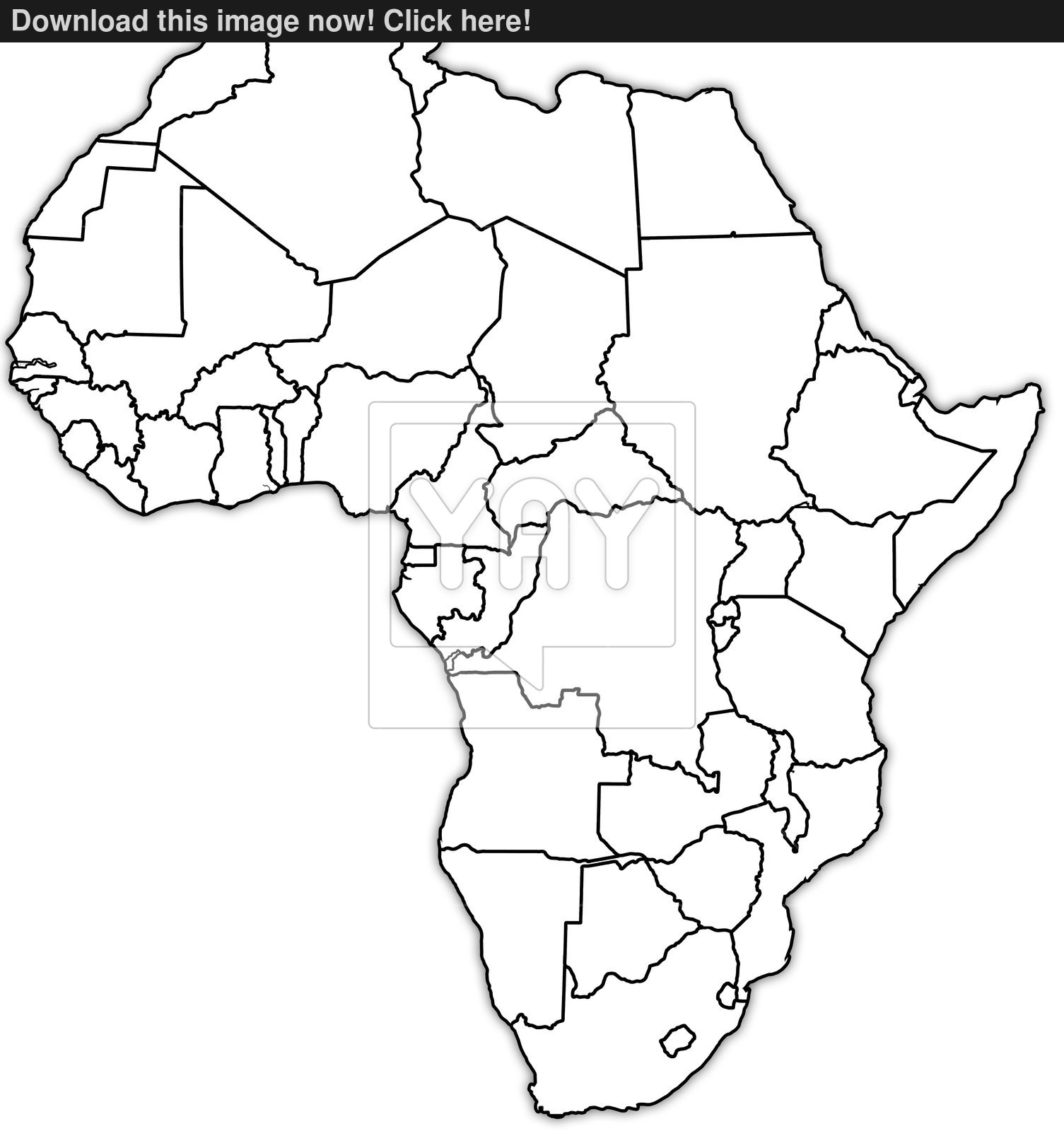 Black And White Map Of Africa