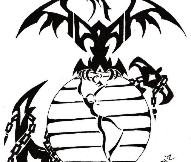 X Tribal Marine Tattoo By Goodly