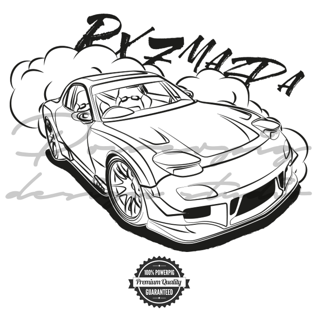How To Draw Mazda Rx7
