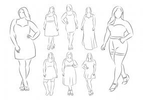 body female outline plus drawing human sketch medical graphic vector svg getdrawings ai eps format found
