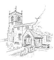 medieval church drawing kiddington getdrawings wootton