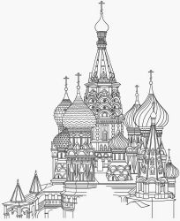 kremlin drawing russia tattoo sketch coloring moscow basil church pages medieval colouring google disegni cathedral line coloriage russe adulte wonders