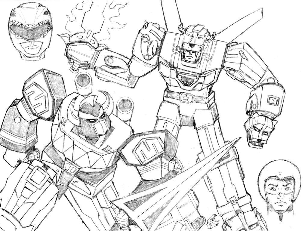 Megazord Drawing At Getdrawings