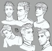 men hair drawing getdrawings