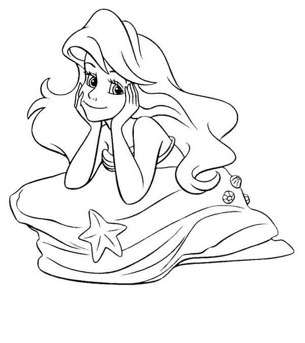 Mermaid Sitting On A Rock Drawing at GetDrawings.com