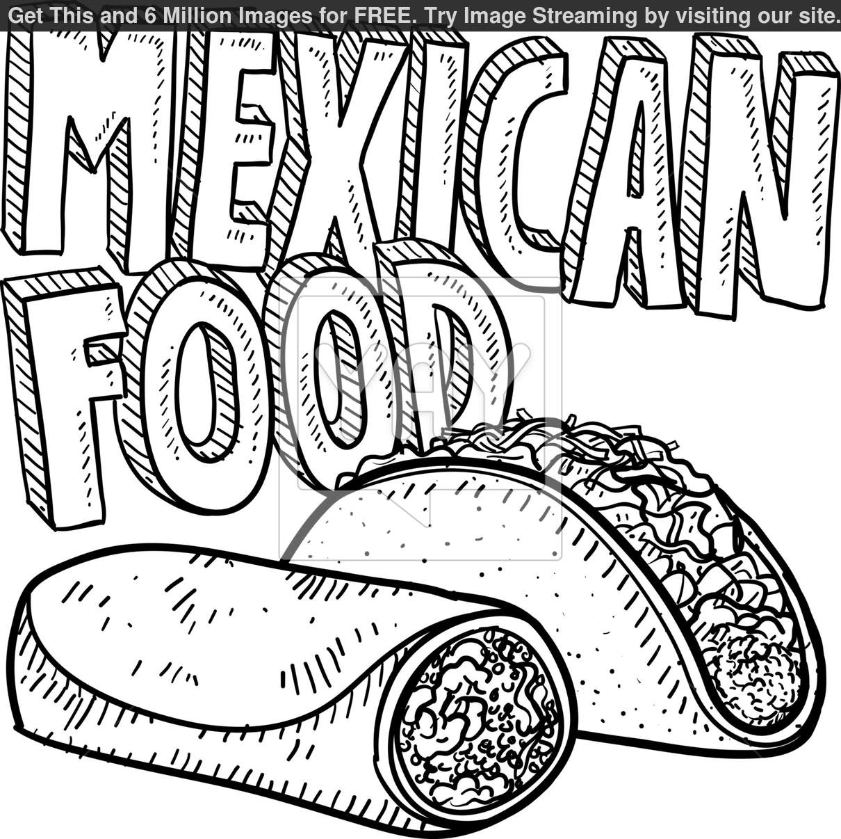 Mexican Flag Coloring Page Sketch Coloring Page