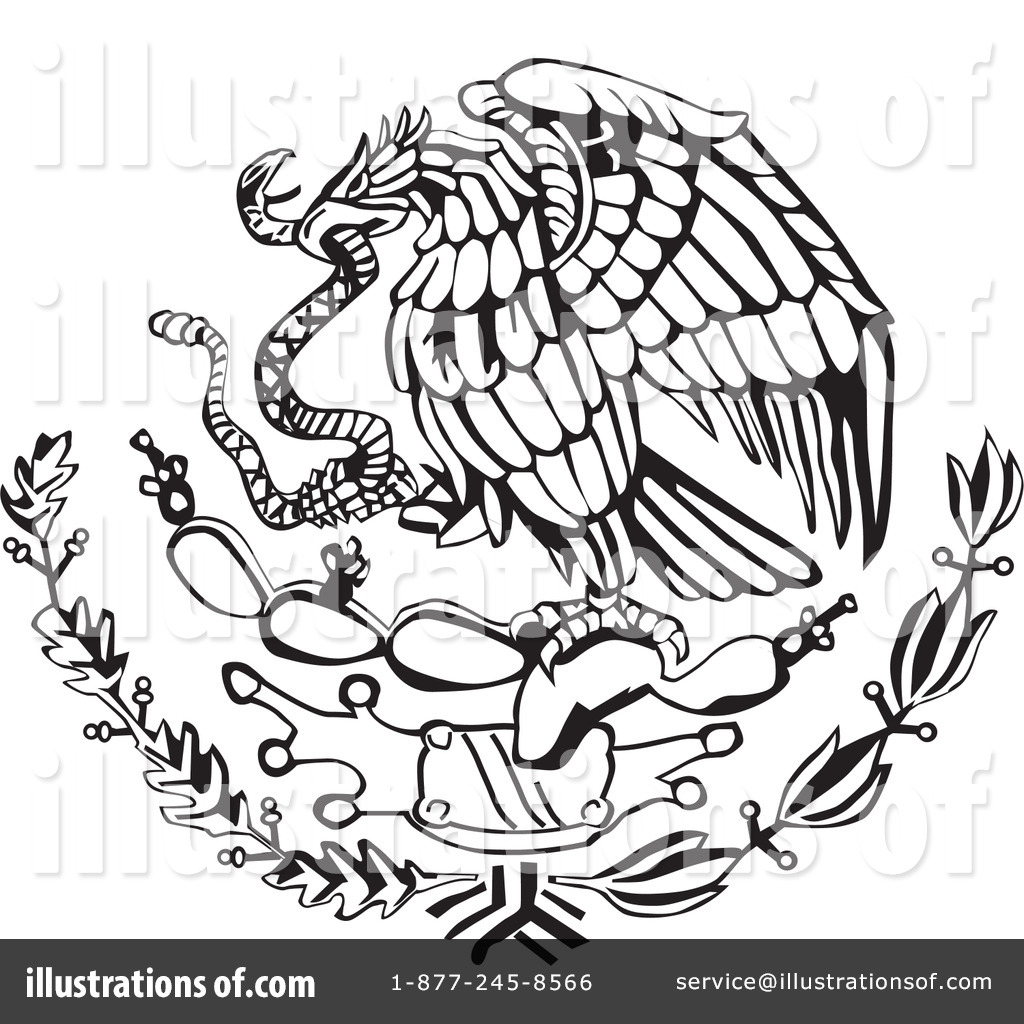 Mexican Flag Eagle Drawing At Getdrawings