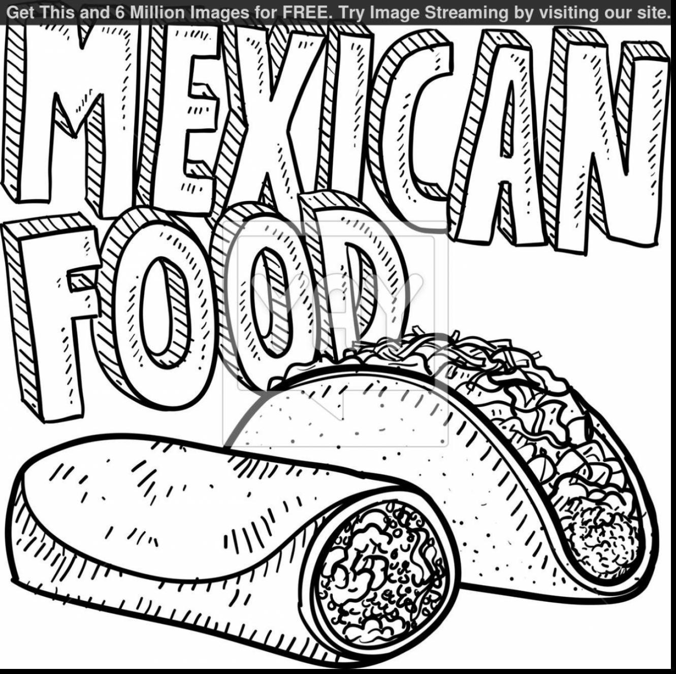 Mexican Food Drawing At Getdrawings