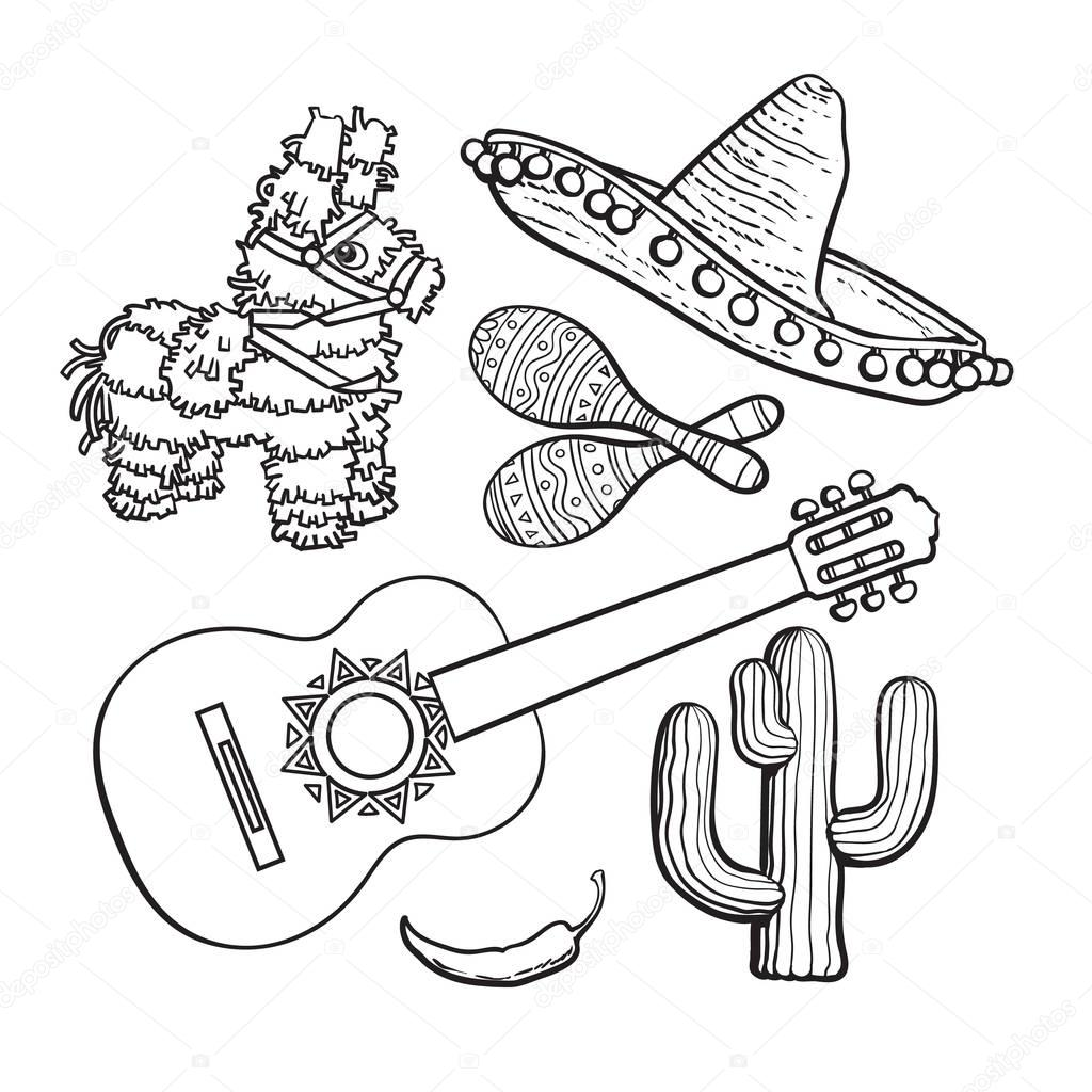 Mexican Sombrero Drawing At Getdrawings