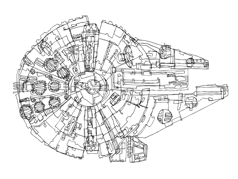 Millennium Falcon Technical Drawing at GetDrawings.com