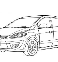 3508x2480 mazda premacy minivan coloring page free printable coloring pages [ 3508 x 2480 Pixel ]