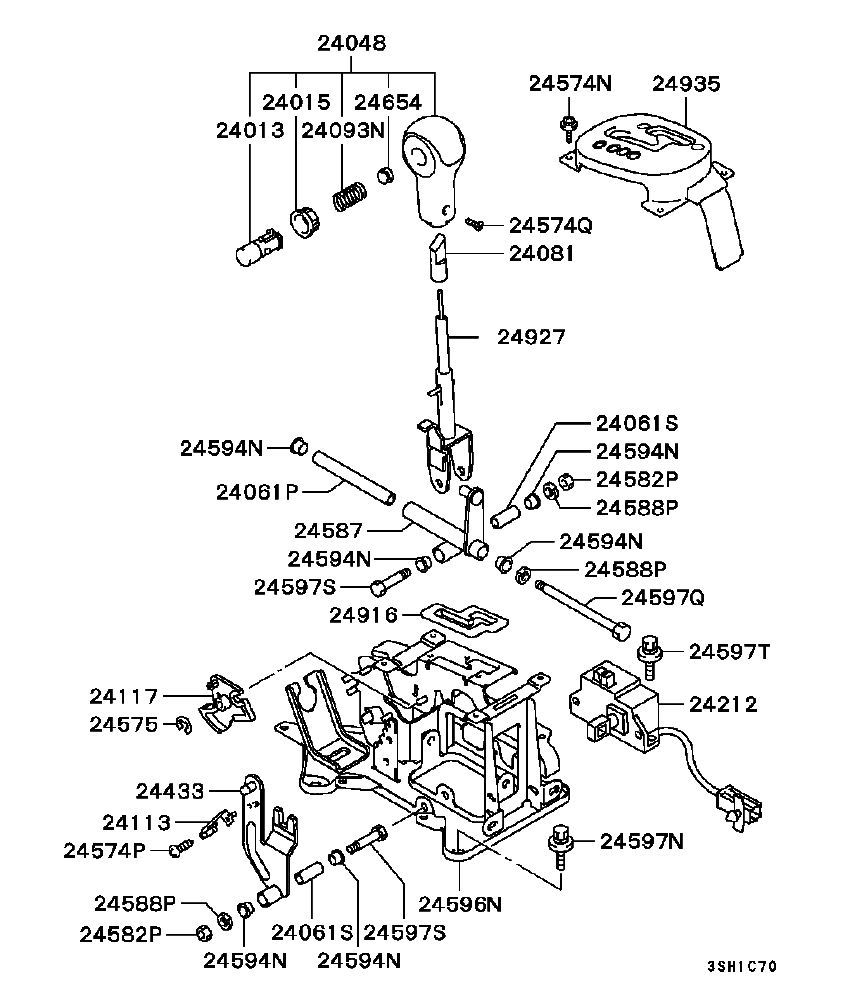 medium resolution of  mitsubishi eclipse engine diagram 1998 at wiring 846x997 do you have a picture of a gearshift assembly for a 2002