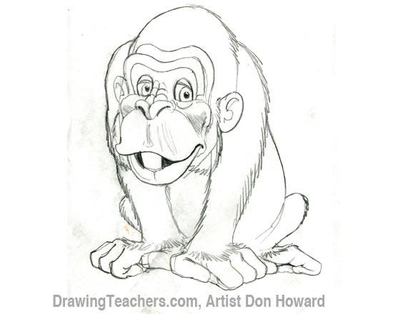 Swinging Monkey Drawing At Getdrawings Com