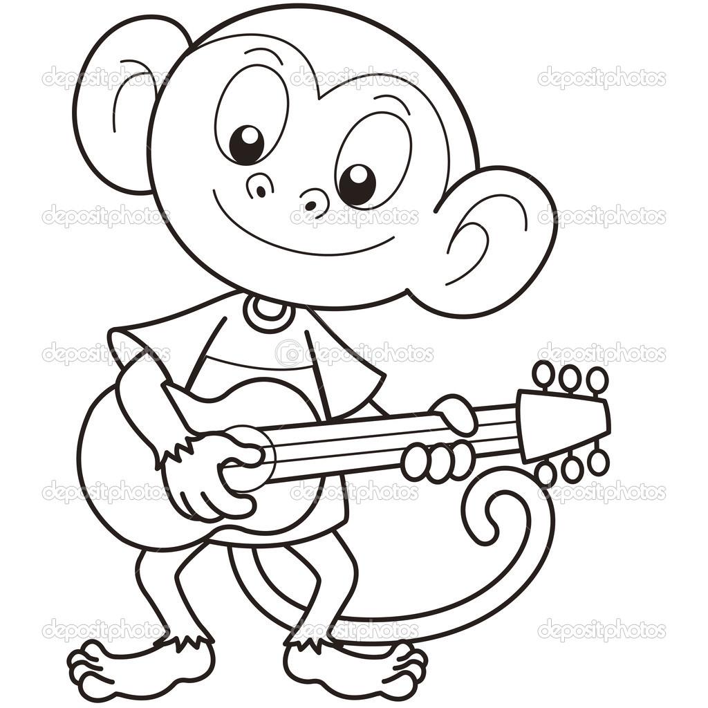 Monkey Drawing Cartoon At Getdrawings