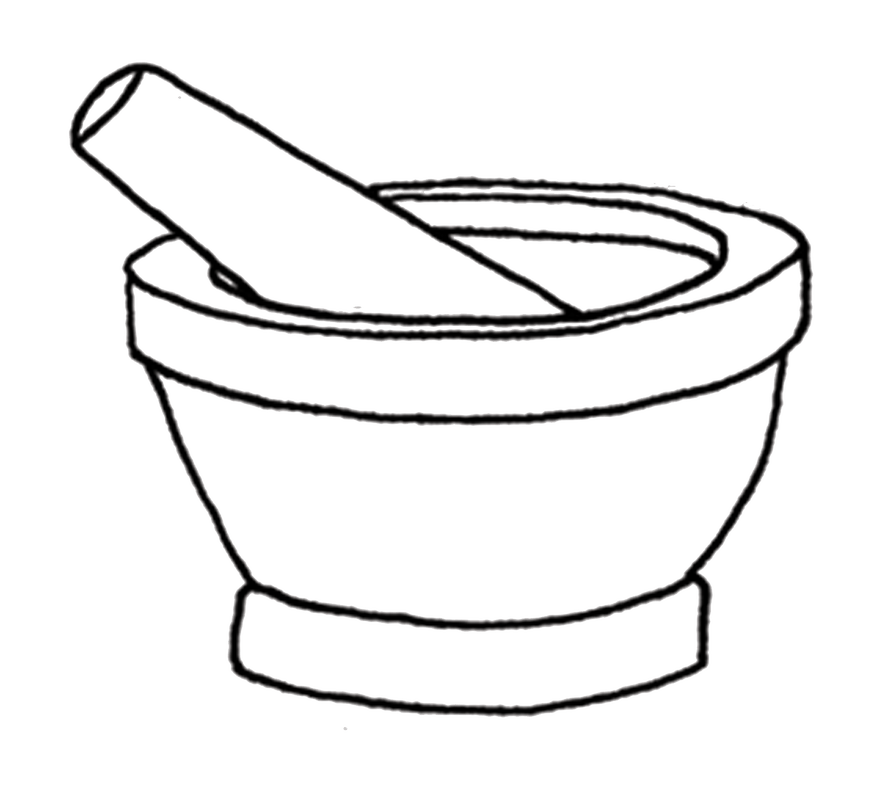 Mortar And Pestle Coloring Pages Sketch Coloring Page
