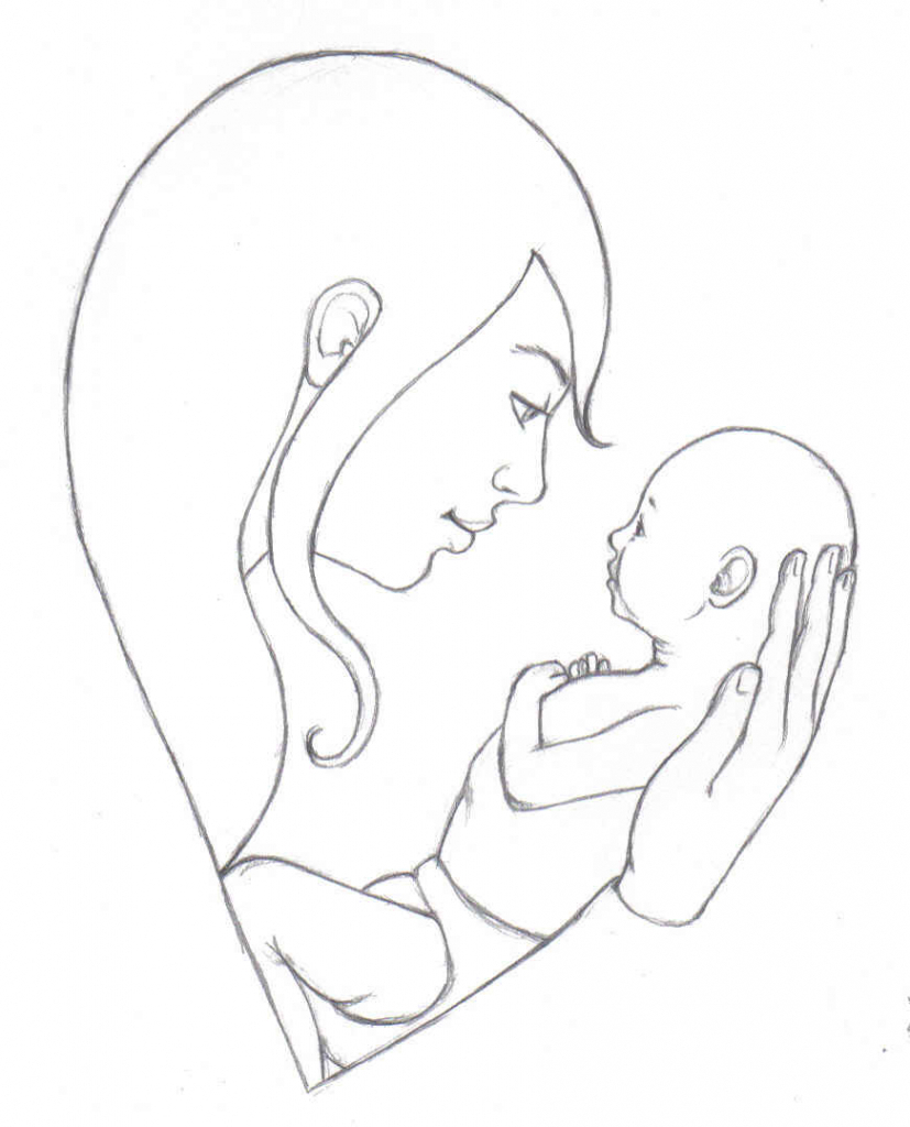 Mother Child Pencil Sketch : mother, child, pencil, sketch, Mother, Drawing, Images., Download, Drawings, GetDrawings