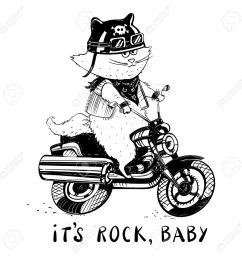 1300x1300 funny cat on a motorcycle cat biker in a cartoon style cute [ 1300 x 1300 Pixel ]