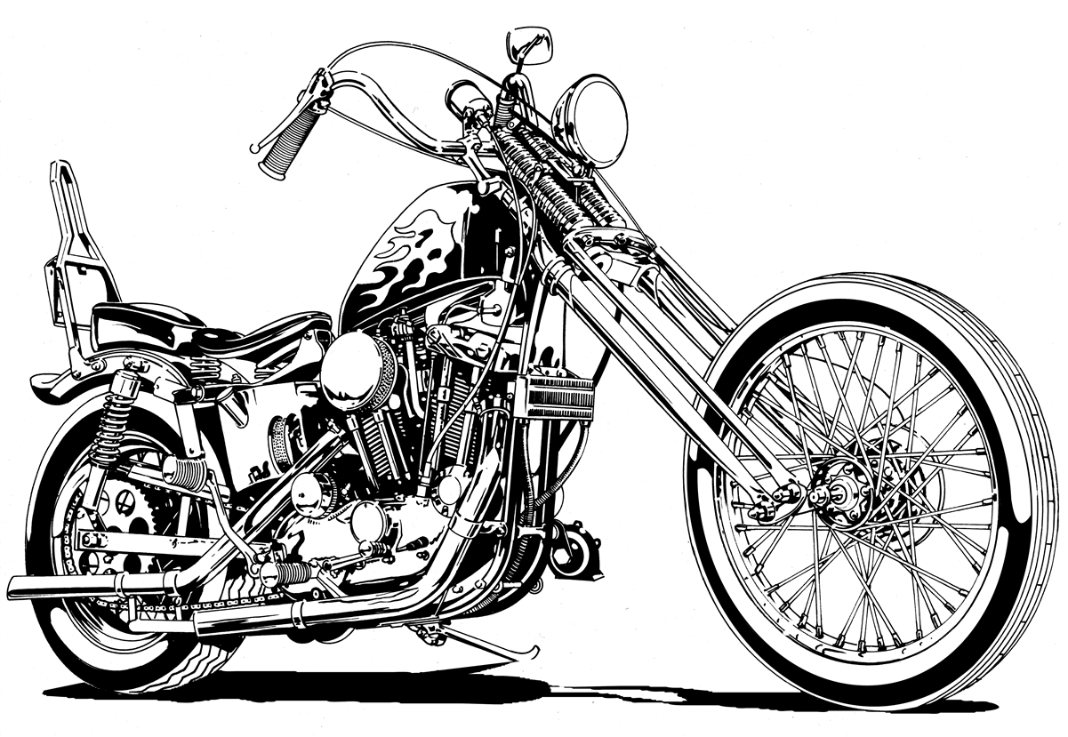 Motorcycle Drawing At Getdrawings