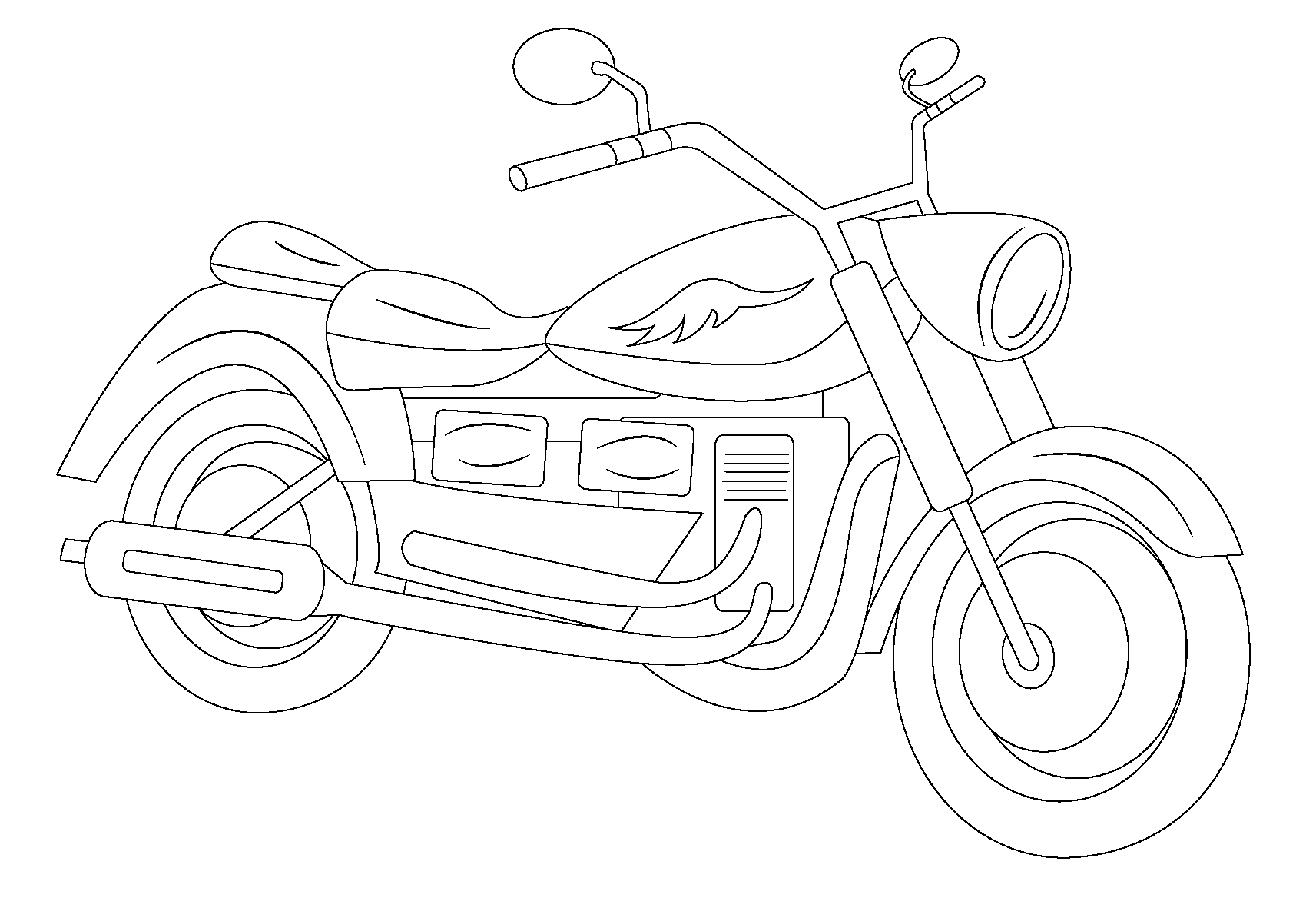 1713x1181 trend motorcycle coloring page 2