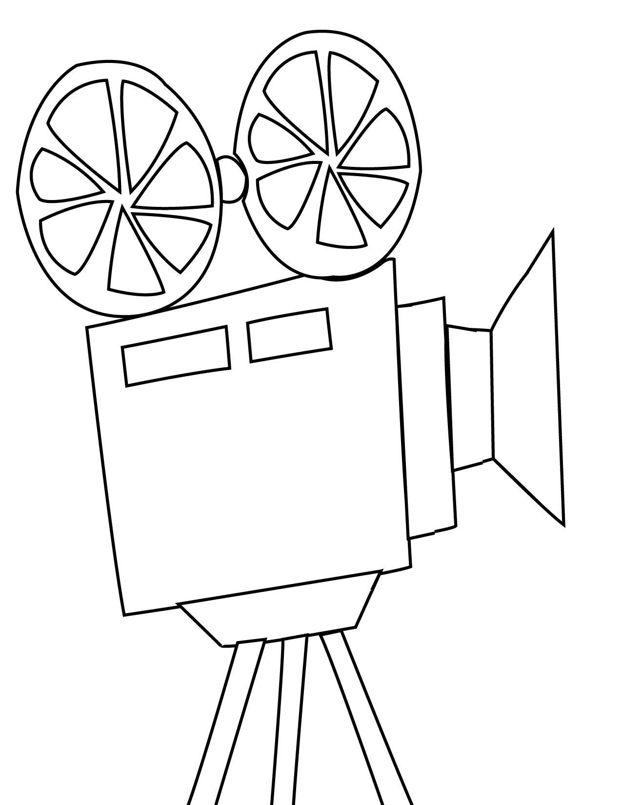 Movie Camera Drawing At Getdrawings