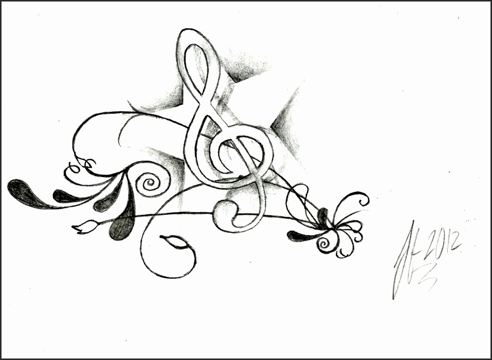Music Notes Line Drawing At Getdrawings Com