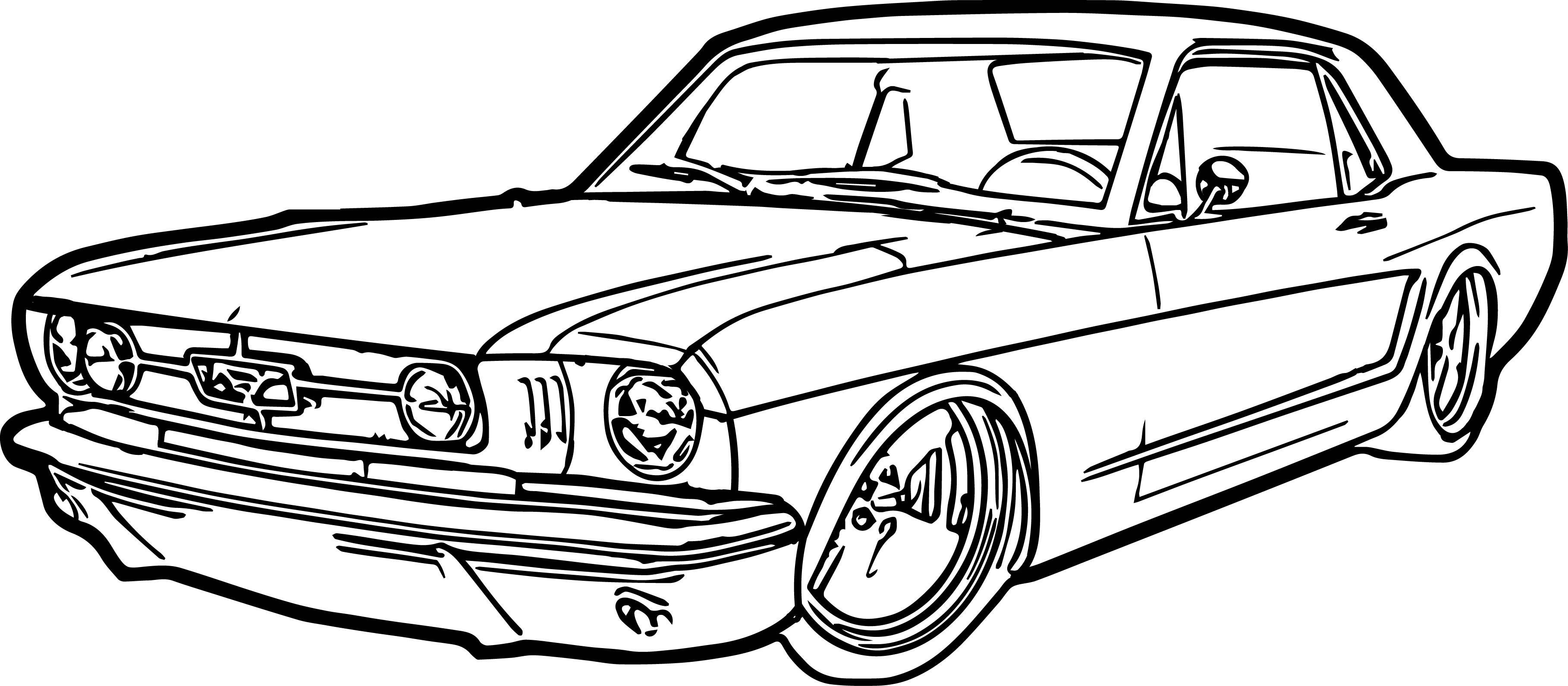 Mustang Car Drawing At Getdrawings