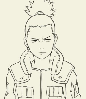 naruto shikamaru easy drawing getdrawings draw nara