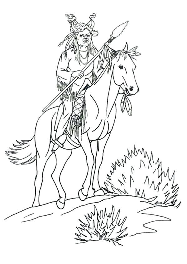 Native Americans Drawing At Getdrawings Com