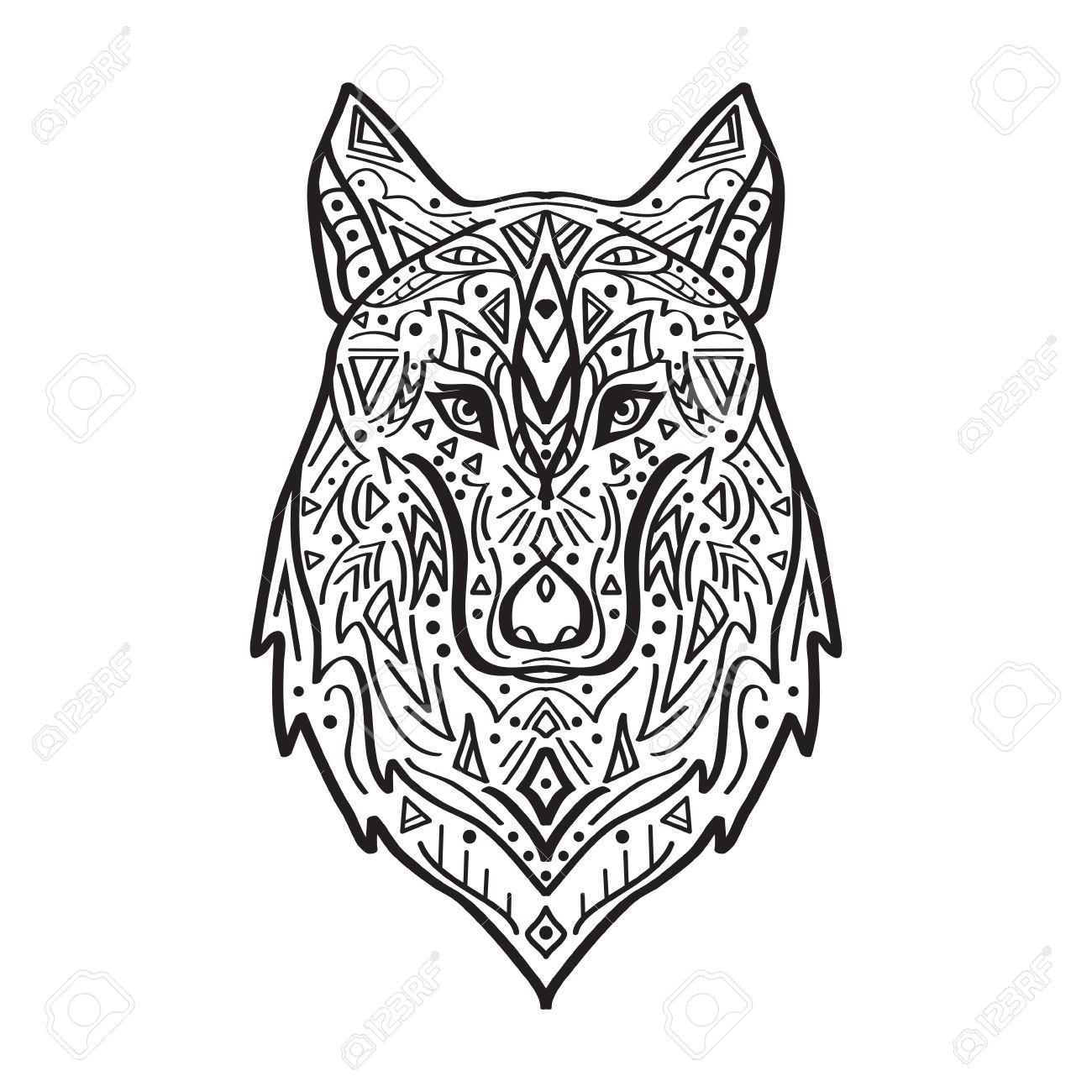 Native American Wolf Drawing At Getdrawings