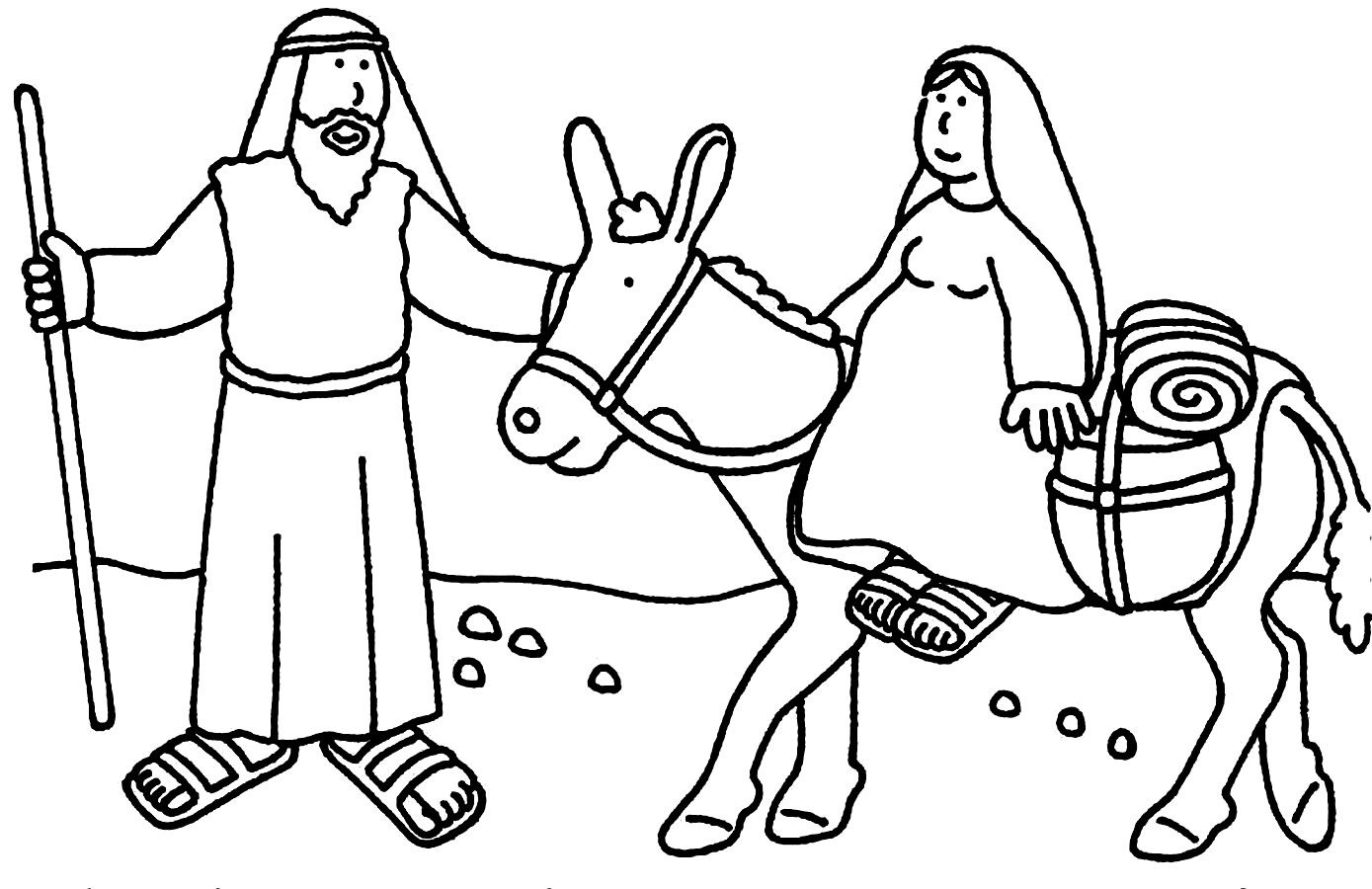 Nativity Drawing For Kids At Getdrawings