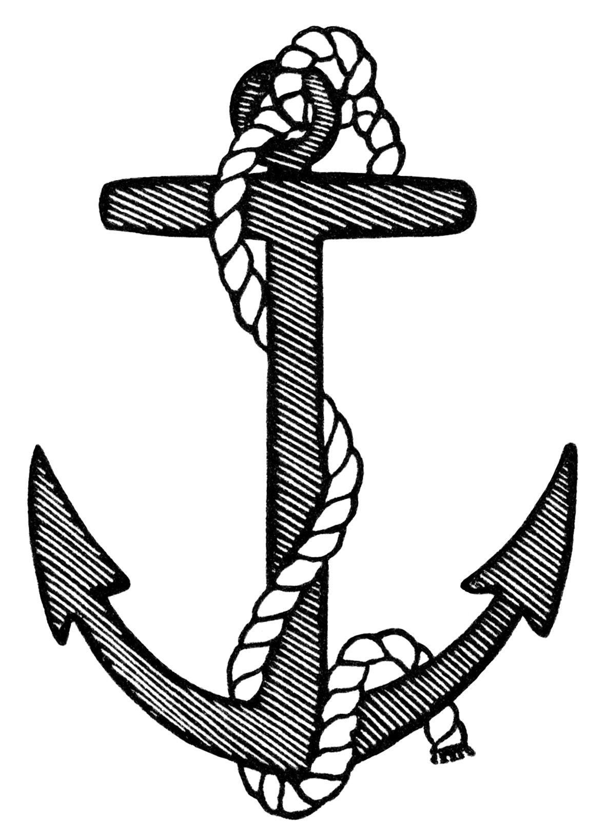Navy Anchor Drawing At Getdrawings