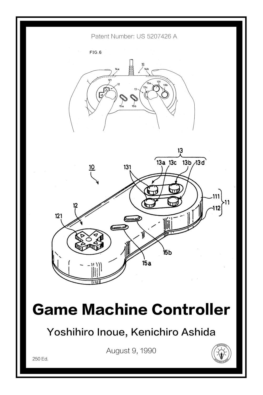 medium resolution of 2048x3072 super nintendo controller retro patents