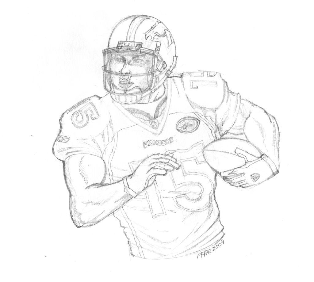 Nfl Football Player Drawing At Getdrawings
