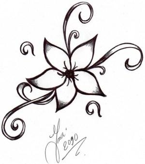 nice easy drawing drawings getdrawings flowers